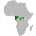 Baeopogon clamans distribution map.png