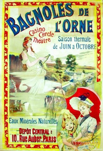 Bagnoles-de-l'Orne - Advertising poster dating from the turn of the 20th century
