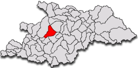 Location in Maramureș County