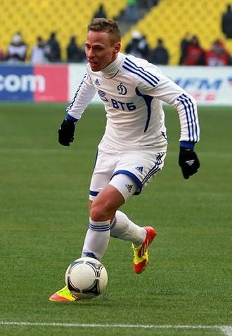 Balázs Dzsudzsák - Dzsudzsák playing in a Russian Premier League match for Dynamo