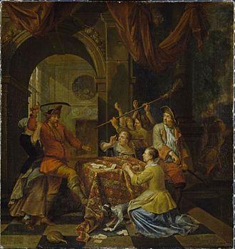 Balthasar van den Bossche - Fight over a card game