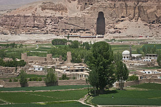 Hazaras - The Bamiyan Valley, the site of the Buddhas of Bamiyan.