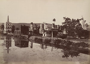 Banashankari Amma Temple - A complete view of Banashankari temple complex in 1855