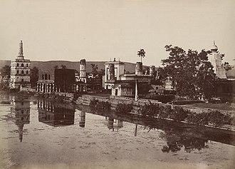 Banashankari Amma Temple - A complete view of Banashankari temple complex in 1855