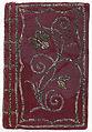 Band van lilarode en donker lila rode zijde met ingeweven bloempatronen-KONB12-1769C111.jpeg