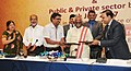 Bandaru Dattatreya at the signing of the agreement between EPFO and public and private sector banks for Multiple Banking System for EPFO contribution and payments, in New Delhi.jpg
