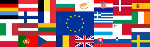 Bannière Drapeaux UE-28