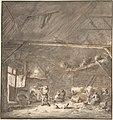Barn Interior with Peasants and CowsVerso- Six Studies of Peasants MET DP800548.jpg