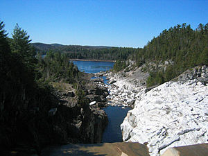 Low, Quebec - View of the Gatineau River from the Paugan Dam