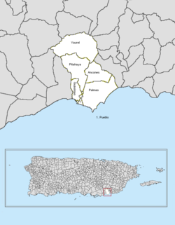 Barrios location in the commonwealth of Puerto Rico