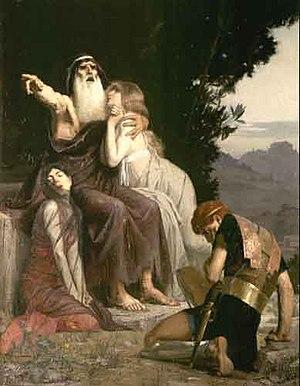 Marcel Baschet - Œdipe condemns Polynice Tableau du prix de Rome