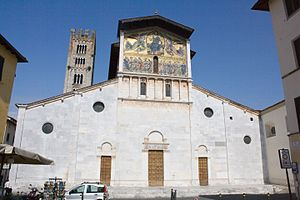 1140s in architecture - Image: Basilica di San Frediano, Lucca