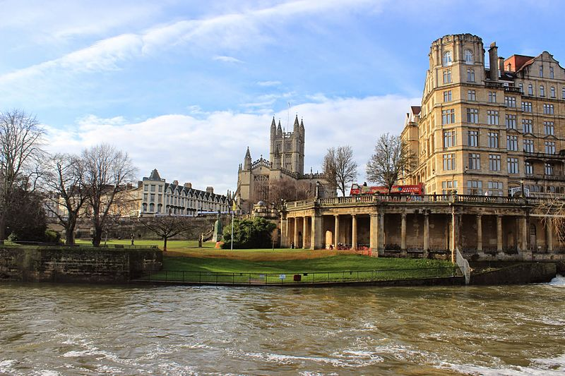 File:Bath Abbey and Empire Hotel from River Avon.JPG