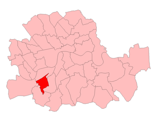 Battersea South (UK Parliament constituency) - Battersea South in London 1950-74