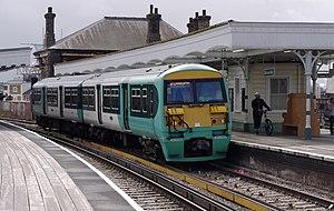 Battersea Park railway station - Image: Battersea Park railway station MMB 12 456011