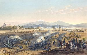 Battle of Molino del Rey - A painting of the battle