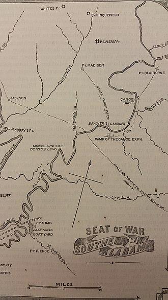 Fort Mims massacre - Image: Battle of Burnt Corn