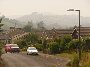 Beaminster - View showing hills to the west of the town
