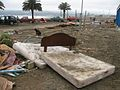 Bed after Chile earthquake, Pichilemu.jpg