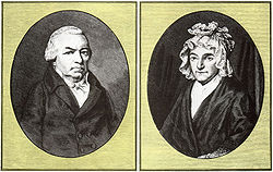 Johann van Beethoven et Maria-Magdalena Keverich, parents de Beethoven.Portraits non attribu�s.