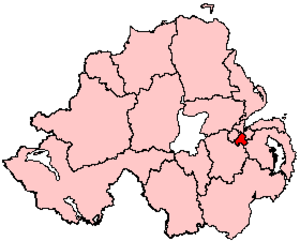 Belfast South (Assembly constituency) - Image: Belfast South UK Parliament Constituency