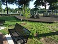 Benches and play area for children at Memorial Field in Summit, New Jersey.jpg