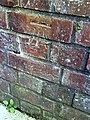 Benchmark on the side wall of ^17 Waynflete Road - geograph.org.uk - 2333624.jpg