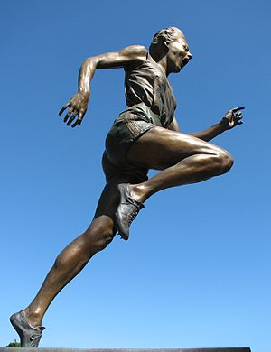 Betty Cuthbert - Statue of Betty Cuthbert outside the Melbourne Cricket Ground