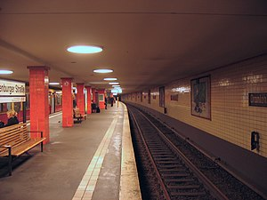 Berlin Oranienburger Straße station - Platform view