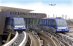 AirRail Link - The AirRail Link connects Birmingham's airport and airport railway station with a pair of cable-driven people movers.