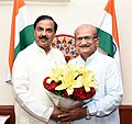 Bhupendrasinh Chudasama meeting the Minister of State for Culture (IC) and Environment, Forest & Climate Change, Dr. Mahesh Sharma, in New Delhi.JPG