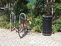 Bicycle Rack, NE corner of Tooms St parking lot, Valdosta.JPG