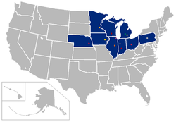 Big Ten Conference locations