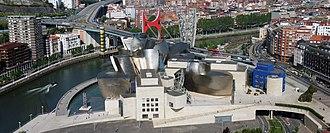Guggenheim Museum Bilbao - Aerial view of the Guggenheim Museum Bilbao