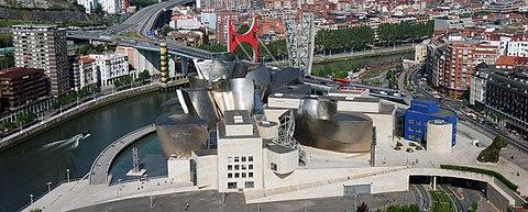 Bilbao Guggenheim Aerial Panorama