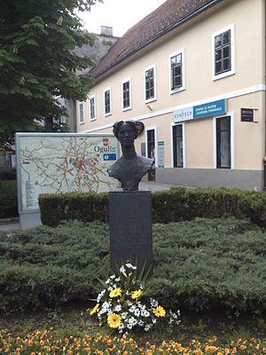 Ivana Brlić-Mažuranić - Bust in her native Ogulin