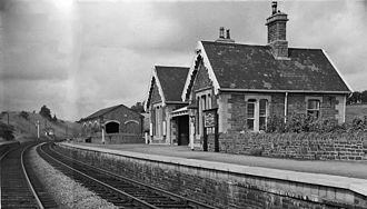 Bitton railway station - View NW, towards Mangotsfield in 1963