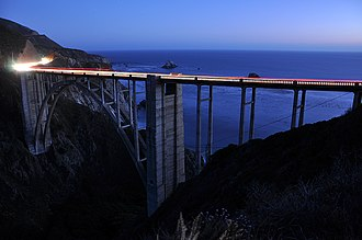 Big Sur - Bixby Creek Bridge at night