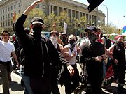 Black Bloc at April 12, 2003 anti-war demonstration in Washington, D.C.
