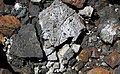 Black smoker rocks (sulfidic wad) (Helen Iron-Formation, Neoarchean, 2696-2749 Ma; Sir James Pit, Eleanor Iron Range, Ontario, Canada) 25 (48069982237).jpg