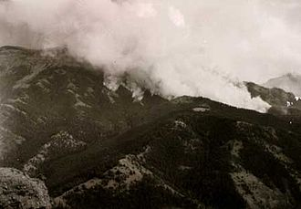 Blackwater Fire of 1937 - Blackwater Fire at approximately 3:45 pm on August 21, 1937