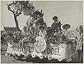 Bloemencorso 1951 praalwagen aan de Zaanenlaan. NL-HlmNHA 54010471.JPG