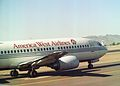 Boeing 737-3G7 N301AW 301 America West Airlines, Phoenix (PHX) - USA, August 1990. (5719055957).jpg