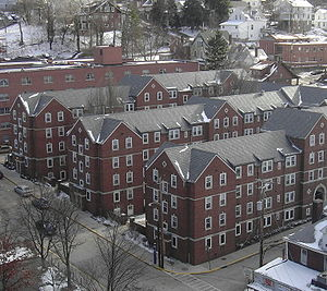 Boreman Hall, one of the oldest residence halls on campus.