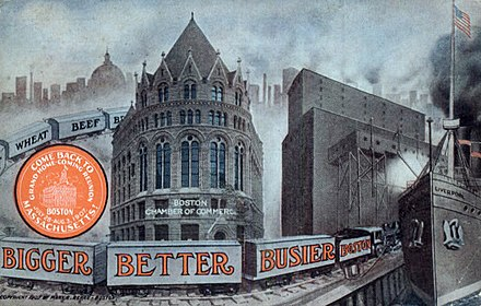 "The ""Bigger, Busier and Better Boston"" campaign, 1907. Boston Massachusetts Chamber of Commerce 1907.JPG"