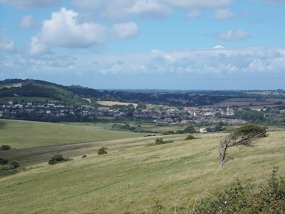 Brading, IW, UK, from Culver Down