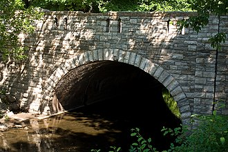 Northfield, Minnesota - Bridge No. 8096 over Spring Creek, which runs through the Carleton College Cowling Arboretum.