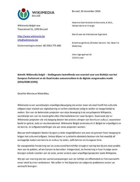 File:Brief Stellingname voostel Richtlijn auteursrecht Europees Parlement SW.pdf