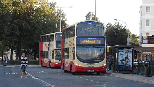 A Brighton & Hove bus service to East Moulsecoomb Brighton & Hove 412 BJ11 XHN.JPG