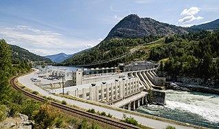 Brilliant Dam hydroelectric power station
